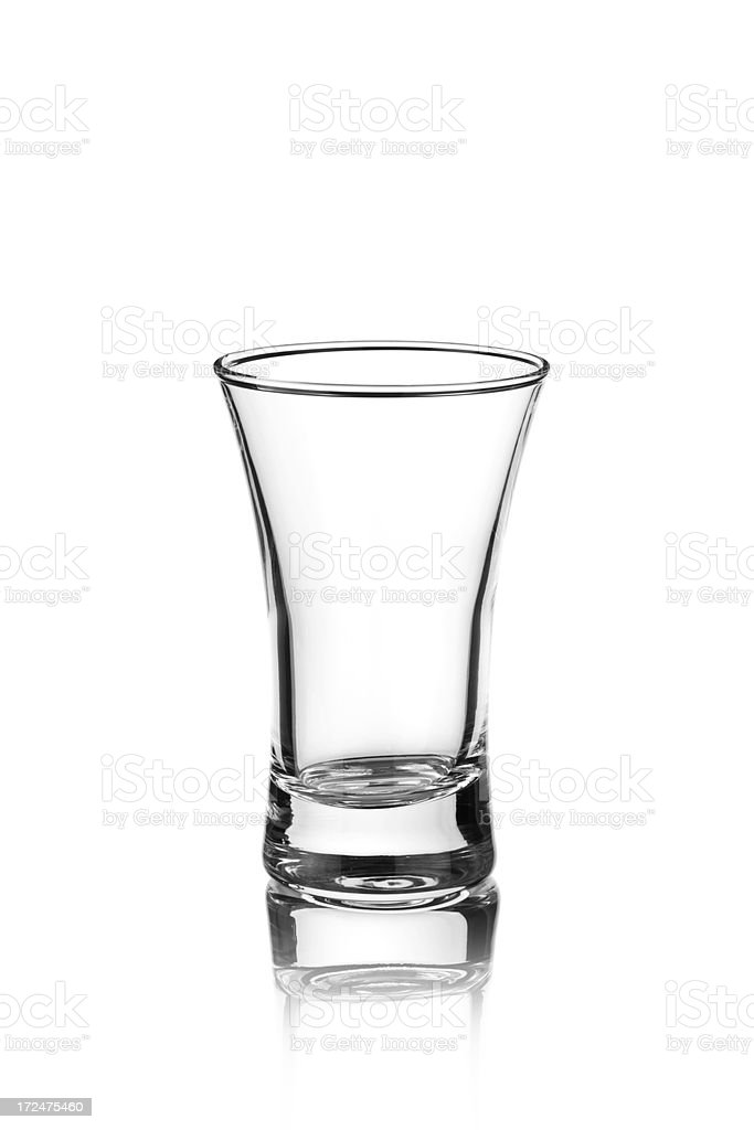 Empty Tequila Shot Glass royalty-free stock photo