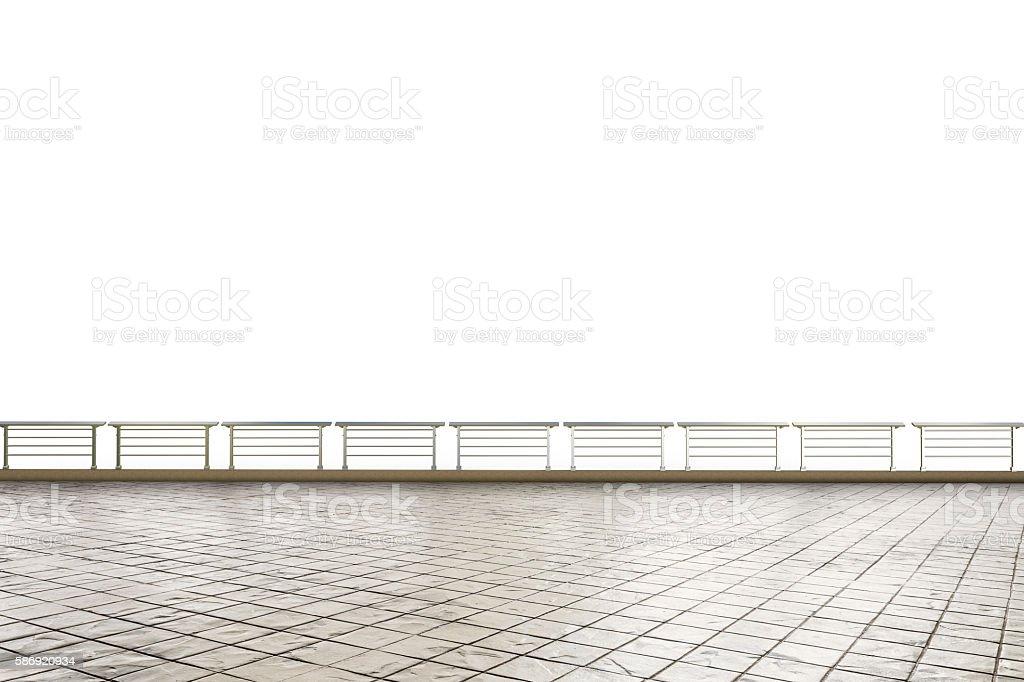 empty terrace stock photo
