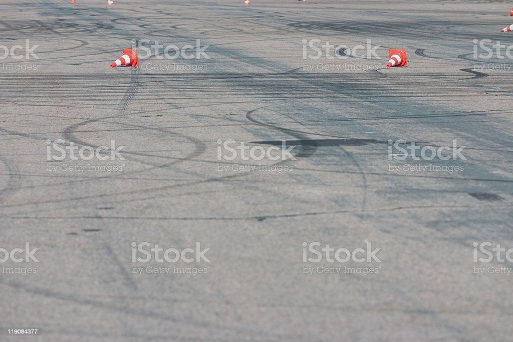 empty test track stock photo