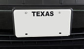 Empty TEXAS License Plate