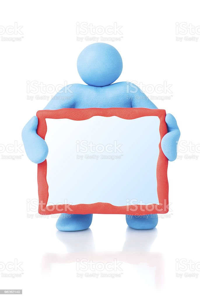 Empty text board. Clipping paths for objects and copy space royalty-free stock photo