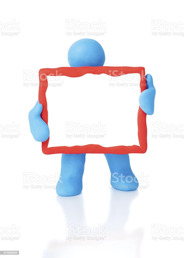 Empty text board. Clipping paths for objects/copy space royalty-free stock photo
