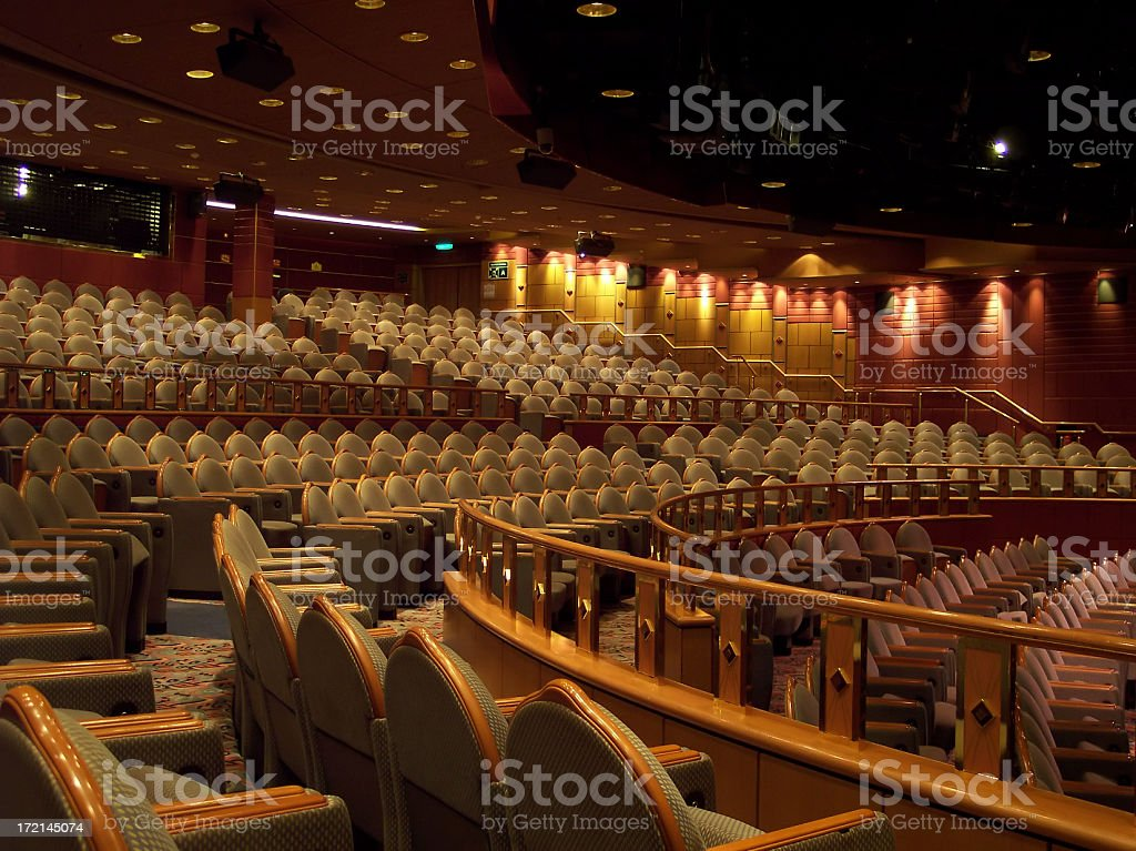 Empty Theater and Seats royalty-free stock photo
