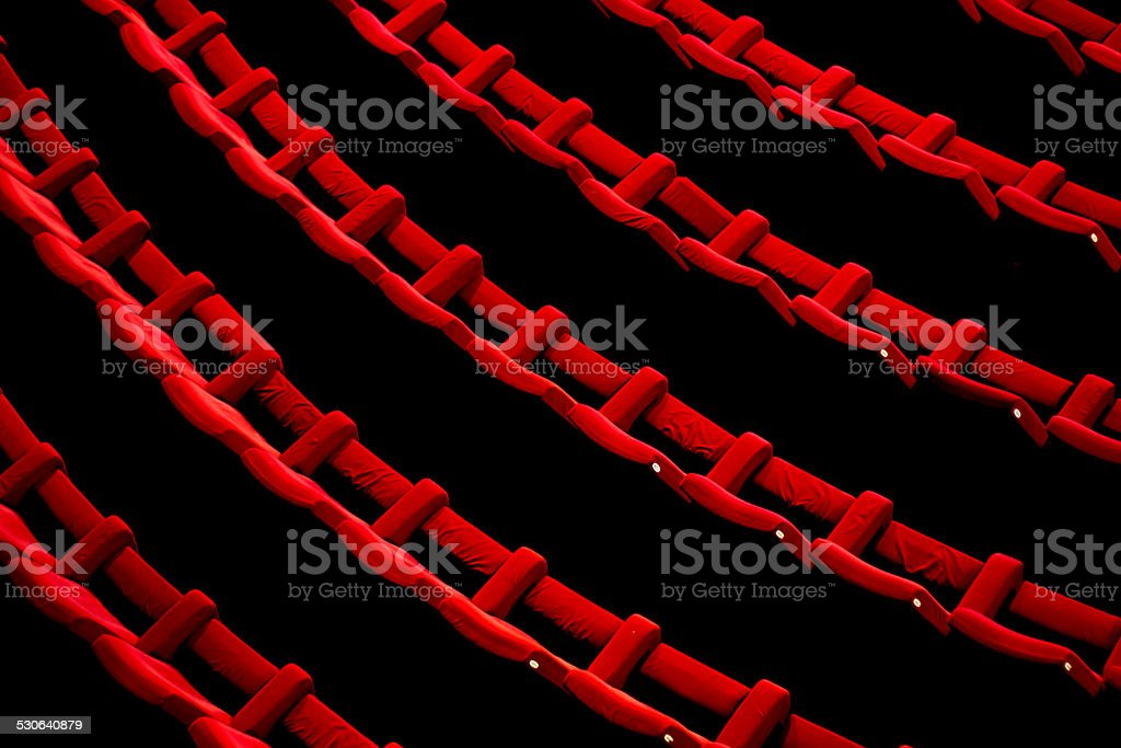 Empty Theater Chairs stock photo