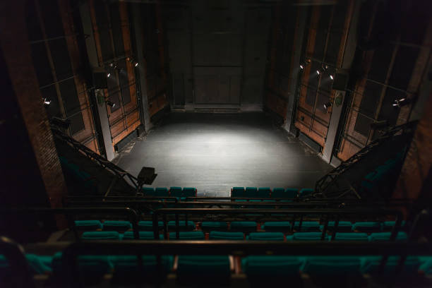 empty theater stage - stage performance space stock pictures, royalty-free photos & images