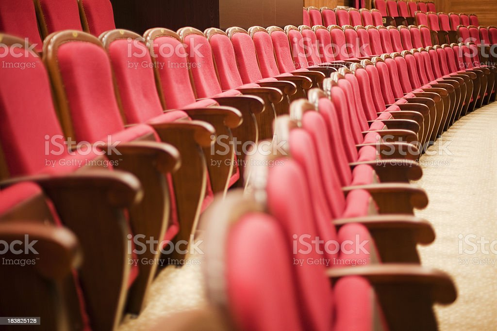 Empty Theatre Chairs royalty-free stock photo