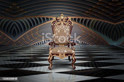 istock Empty throne in hall 1008056848