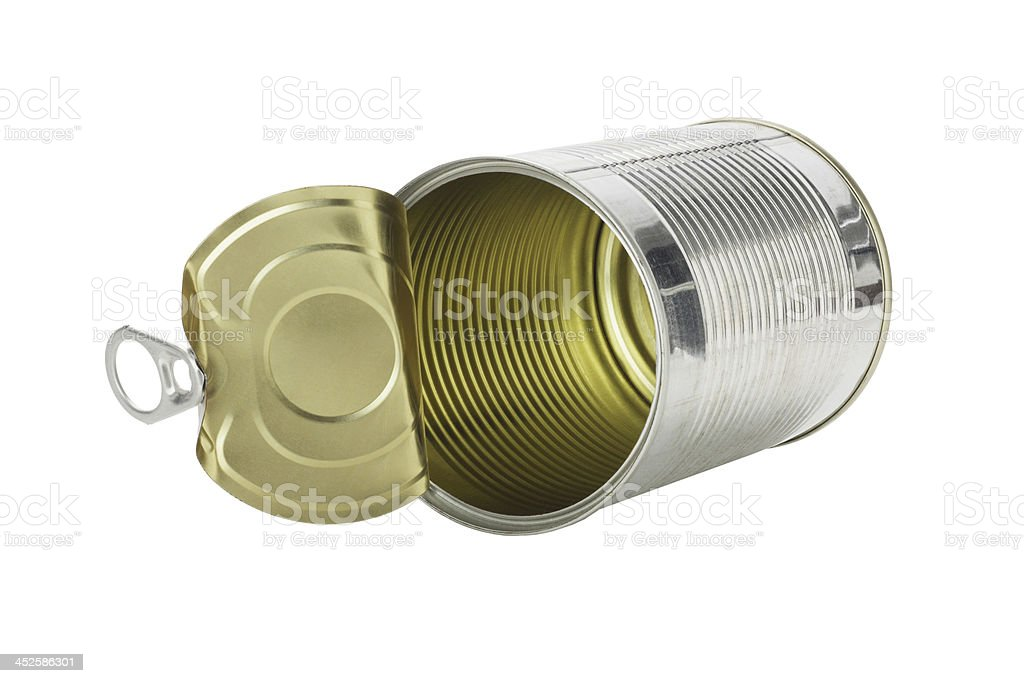 Empty Tin Can royalty-free stock photo
