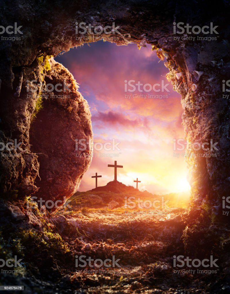 Tombeau vide - la Crucifixion et la résurrection de Jésus-Christ - Photo