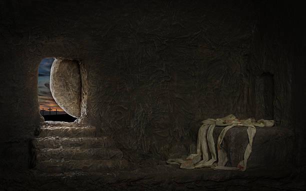 empty tomb of jesus - graftombe stockfoto's en -beelden