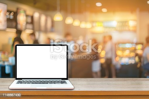 1128886313 istock photo Empty top of wooden table or counter with summer landscape blue 1148867430