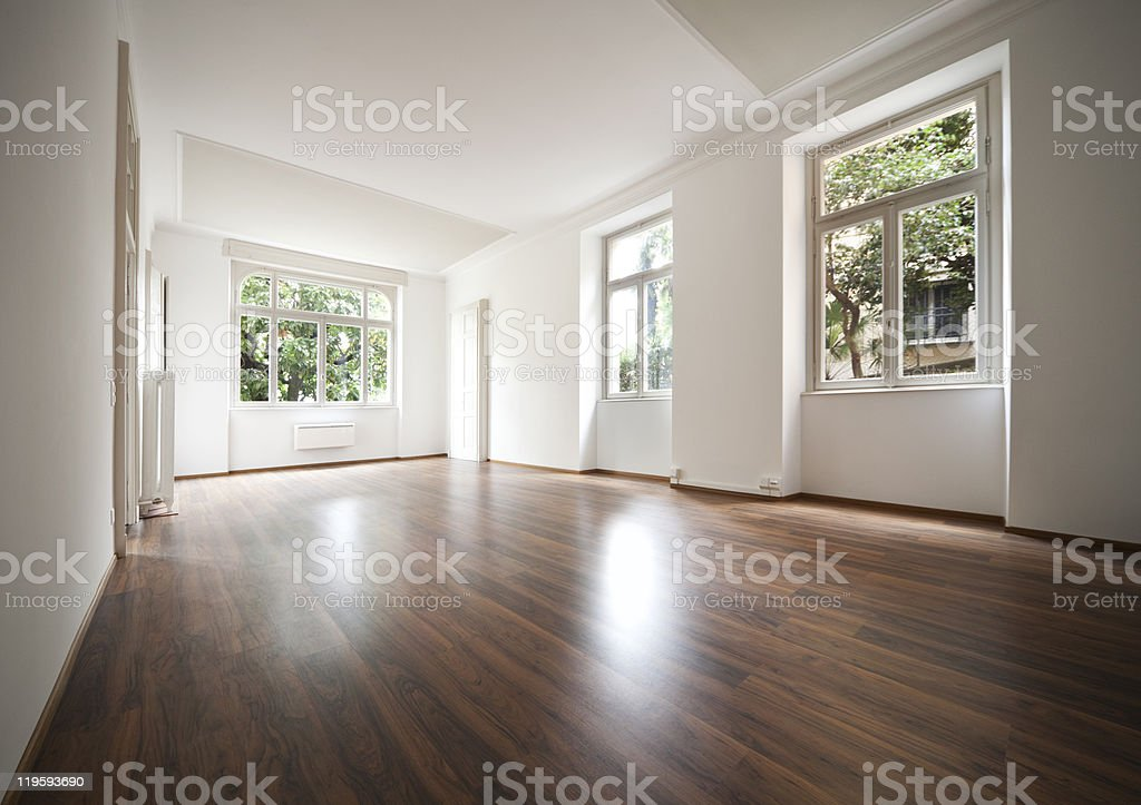 empty traditional home stock photo