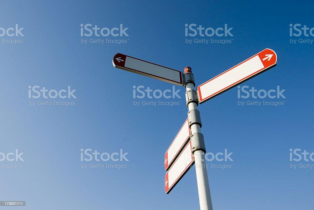 Empty traffic sign royalty-free stock photo