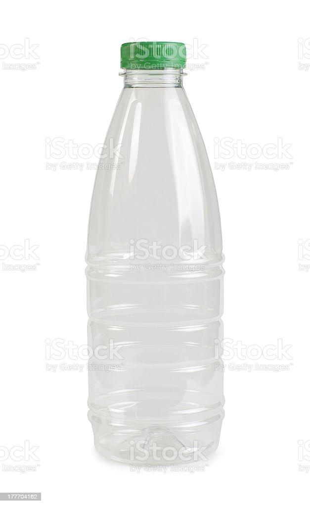 Empty transparent plastic bottle royalty-free stock photo