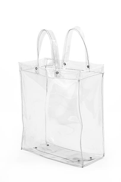 Empty Transparent Shopping Bag stock photo