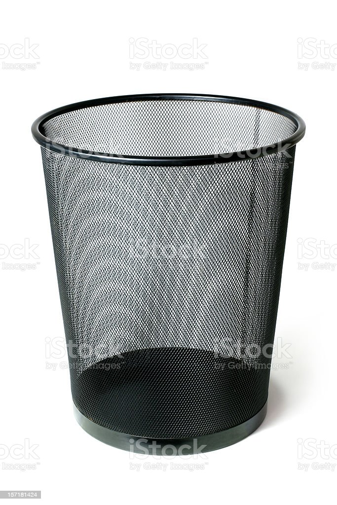 Empty Trash Can royalty-free stock photo