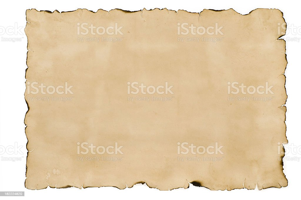 Empty treasure map paper stock photo