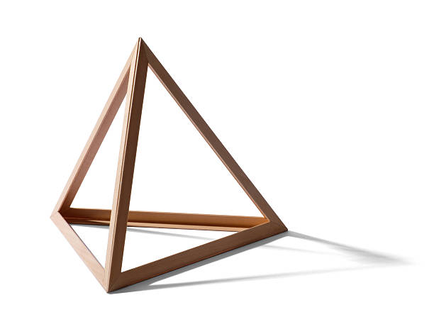 Vacío bastidor triangular - foto de stock