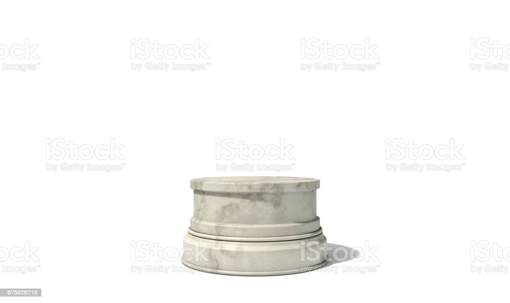Empty Trophy Base stock photo