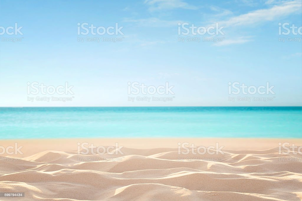 Empty tropical beach stock photo