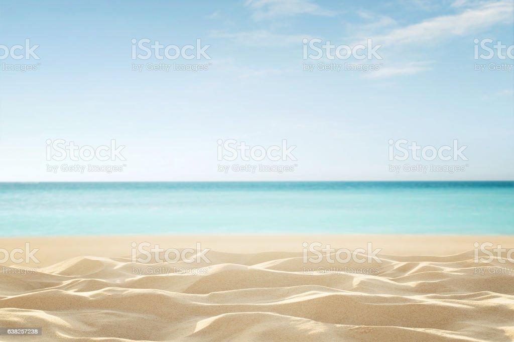 Empty tropical beach