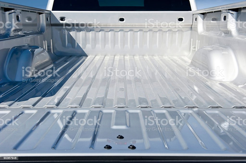 Empty Truck Bed stock photo