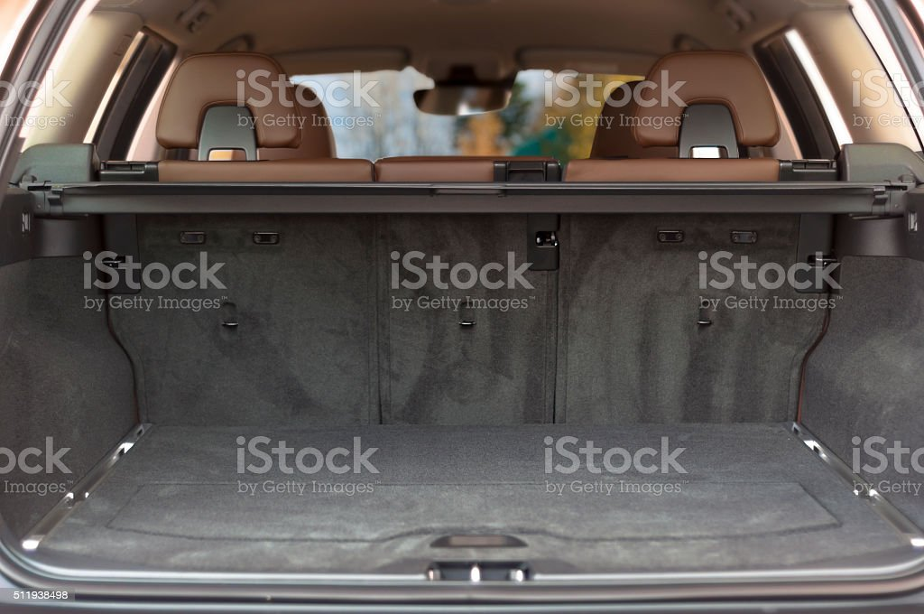 Empty trunk space stock photo