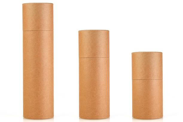 lege buis craft paper box - tube stockfoto's en -beelden