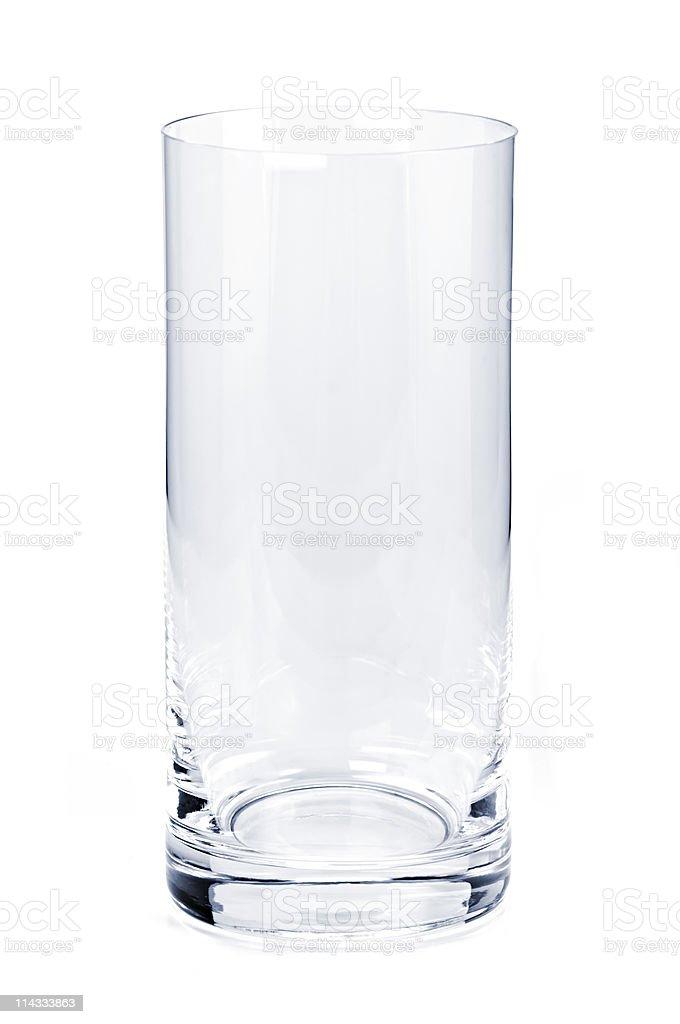 Empty tumbler glass stock photo