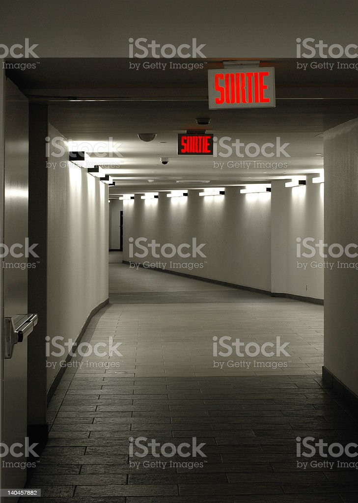 Empty tunnel royalty-free stock photo