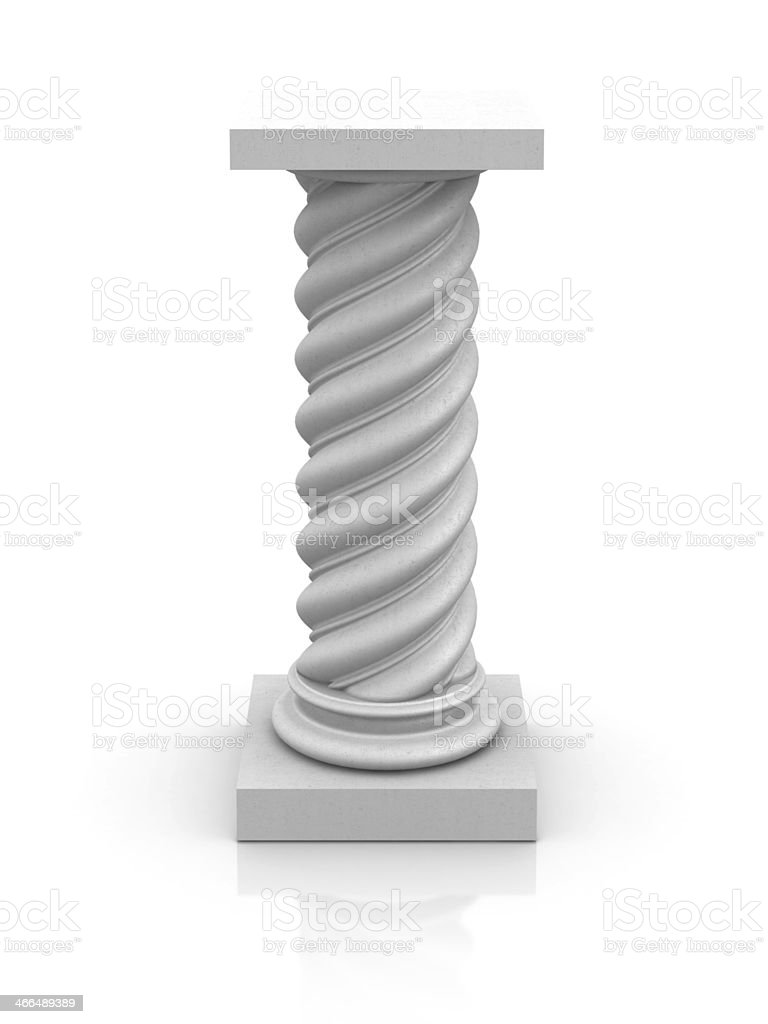 Empty Twisted Pedestal royalty-free stock photo
