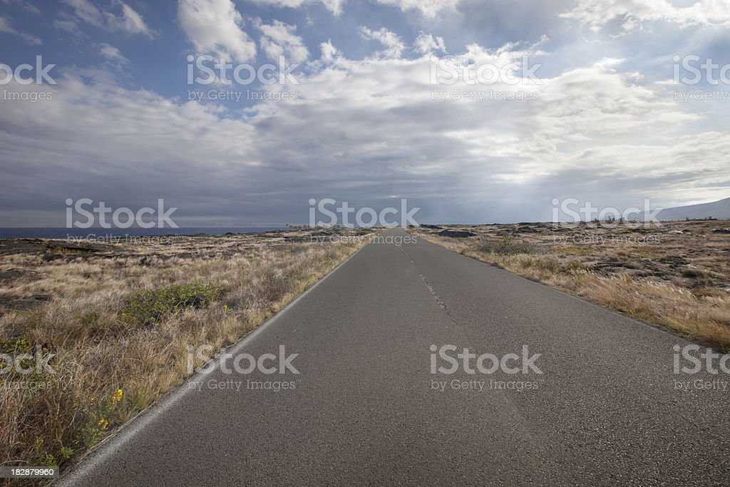 Empty Two Lane Road royalty-free stock photo