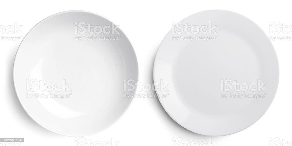 Assiette vide deux (plat et une gamelle) - Photo