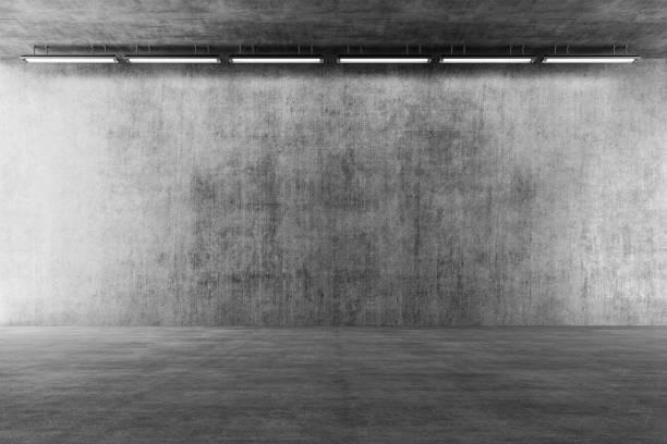 빈 지 하 콘크리트 통로 - 콘크리트 벽 뉴스 사진 이미지