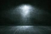 Empty underground concrete room