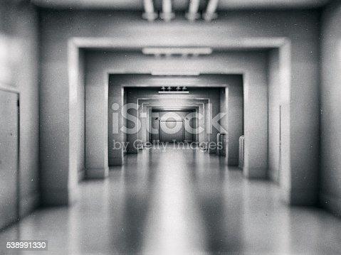 Empty underground shelter.