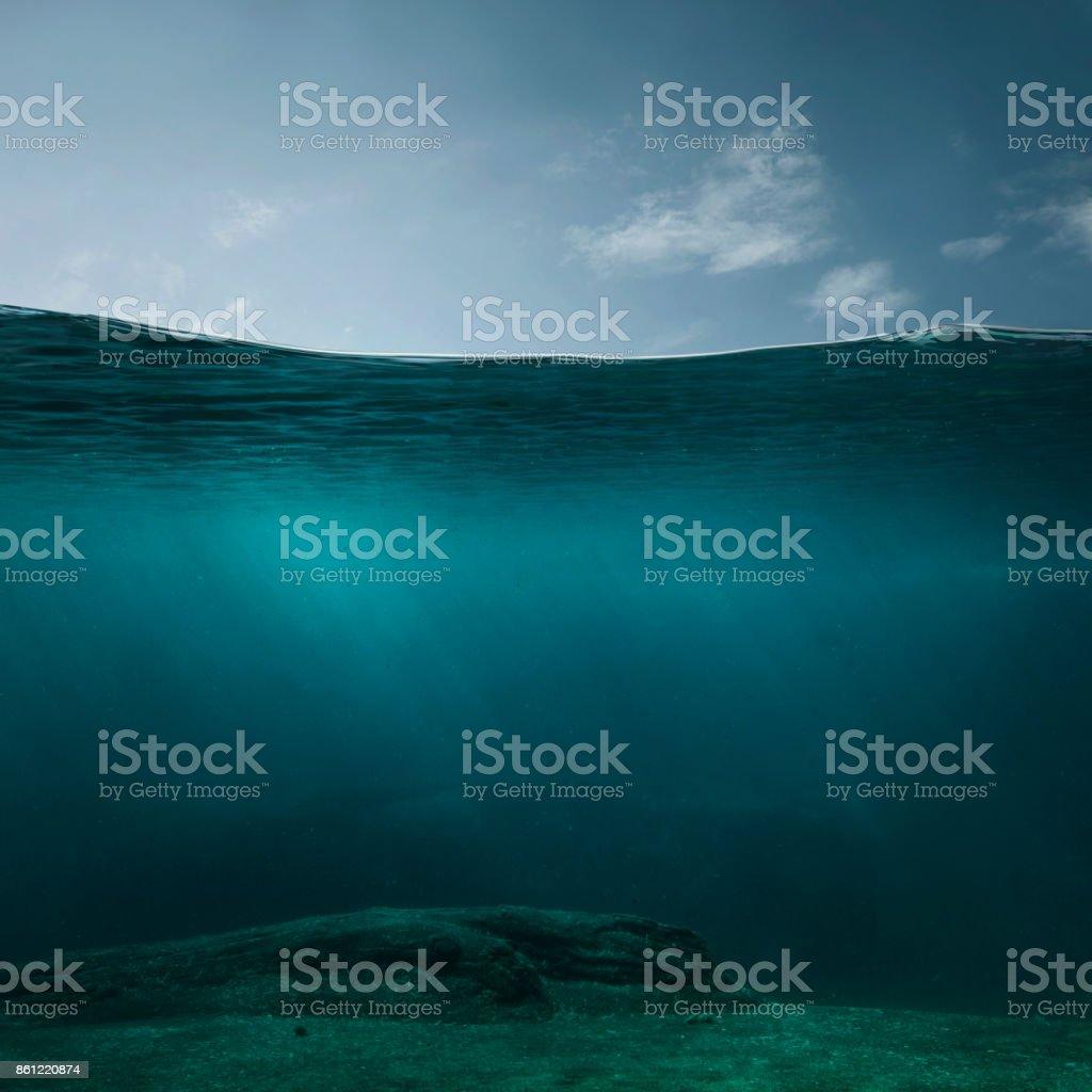 Empty underwater background - Foto stock royalty-free di Acqua