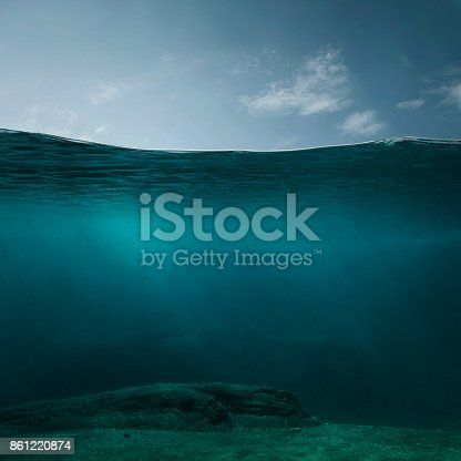 istock Empty underwater background 861220874