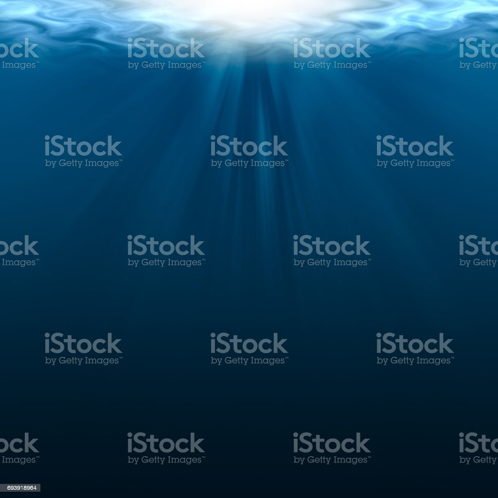 empty underwater for background and design stock photo