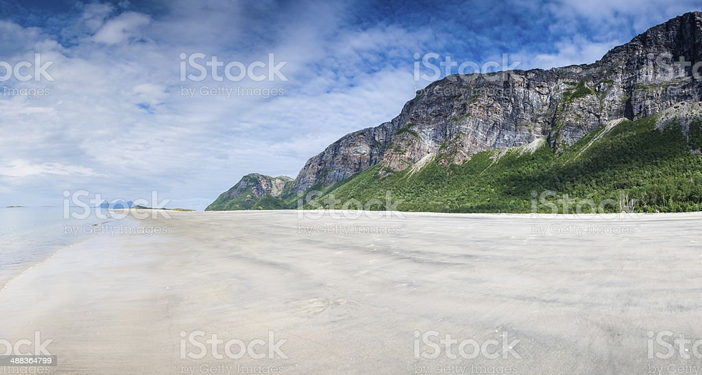 Empty, untouched beach in Northern Norway royalty-free stock photo