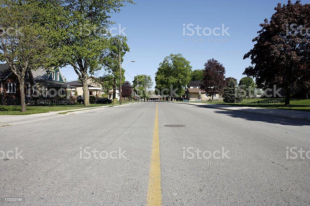 Empty urban Road royalty-free stock photo