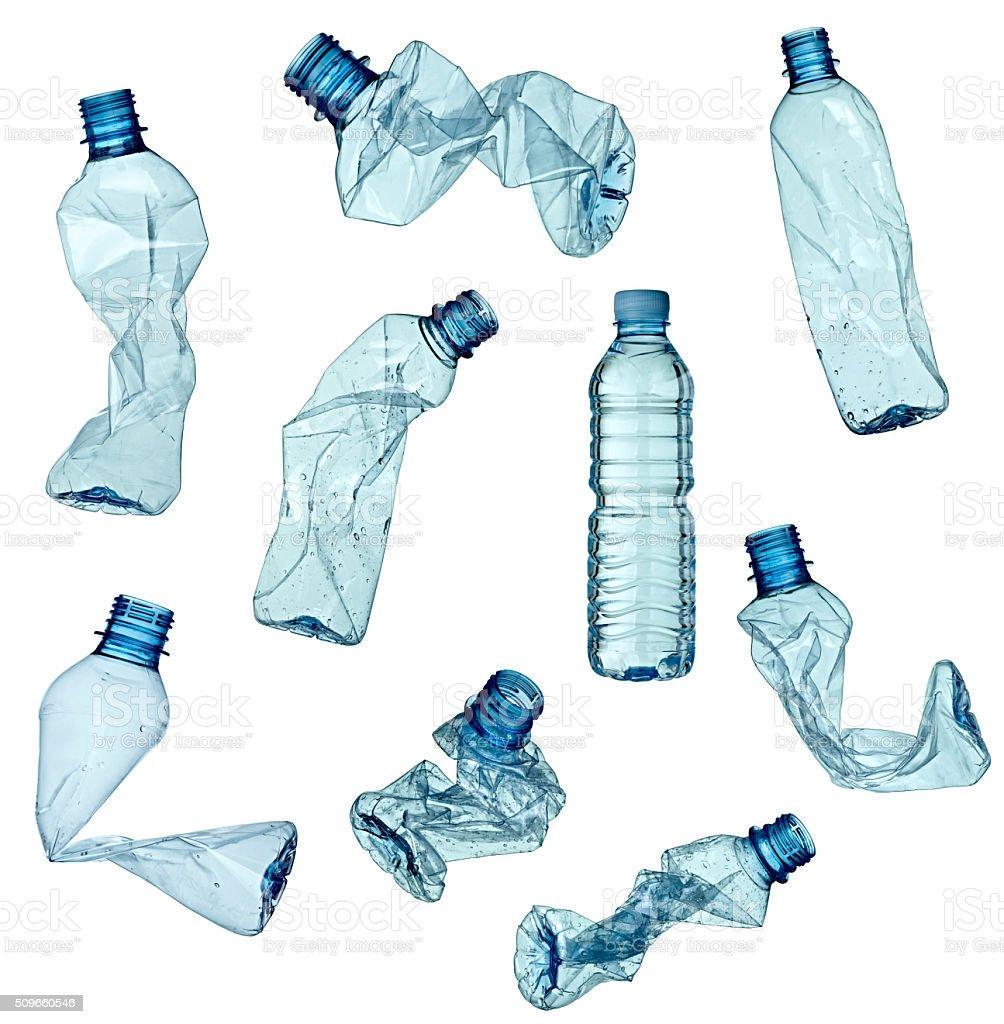 Esvaziar o lixo garrafa ecologia ambiente usado - Foto de stock de Animal de estimação royalty-free