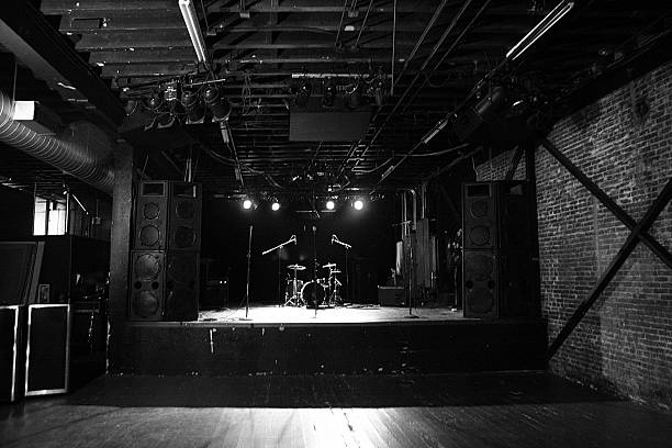 Empty Venue Before A Show. stock photo