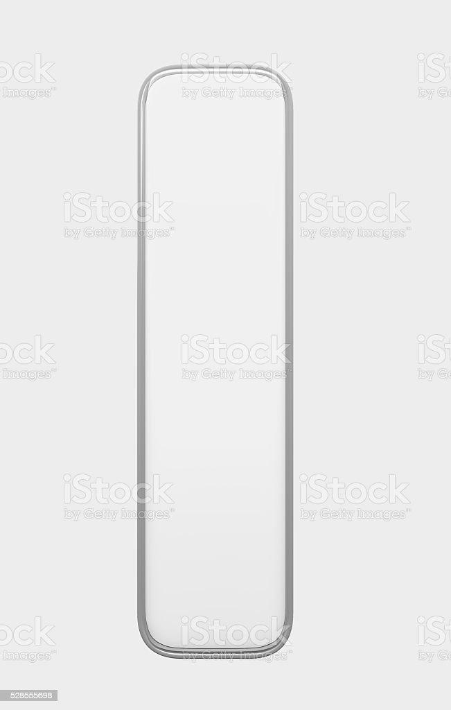Vacío 3D icono botón pulsador vertical sobre un fondo blanco transparente - foto de stock