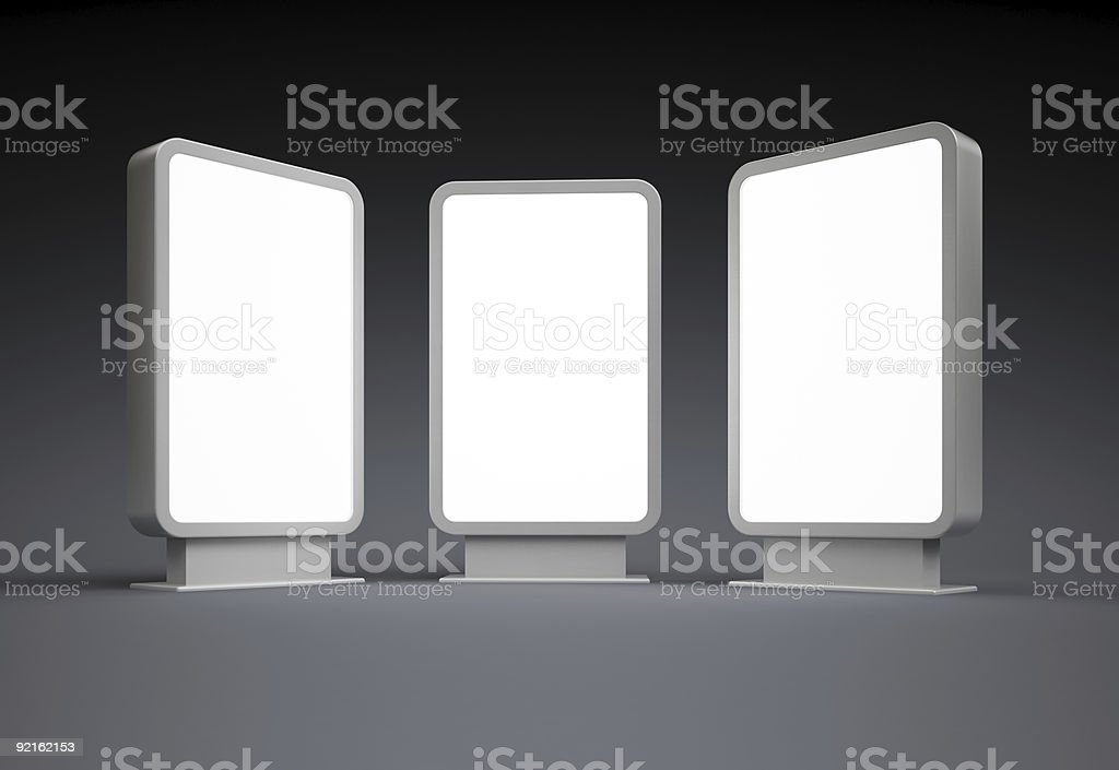 Empty vertical billboard royalty-free stock photo