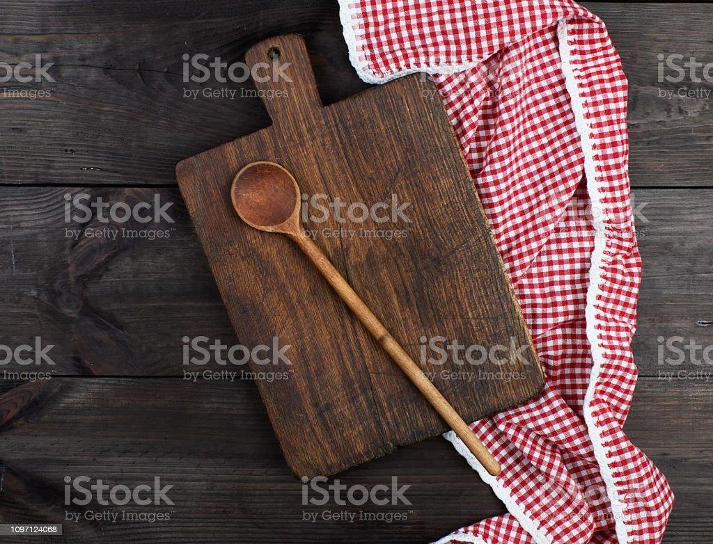 Leere Sehr Alte Kuche Aus Holz Schneidebrett Stockfoto Und Mehr Bilder Von Abstrakt Istock