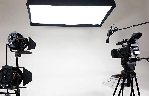 empty video set stock photo