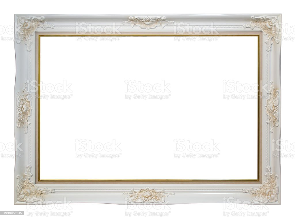 Empty vintage frame stock photo