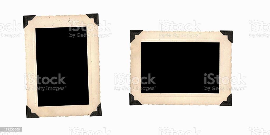 Empty Vintage Photo Frames stock photo