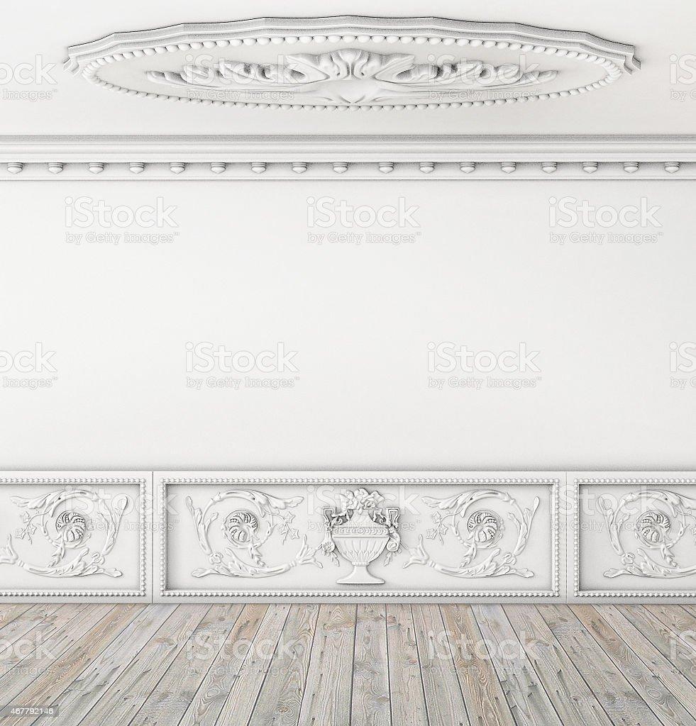 Intérieur vide Chambre vintage avec plafond - Photo